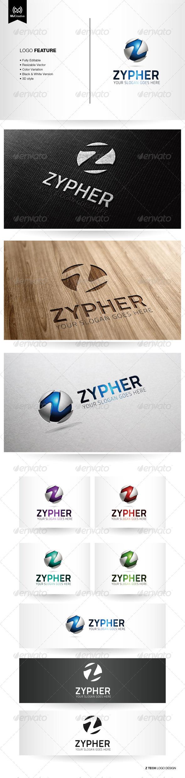 Z Tech 3D Logo