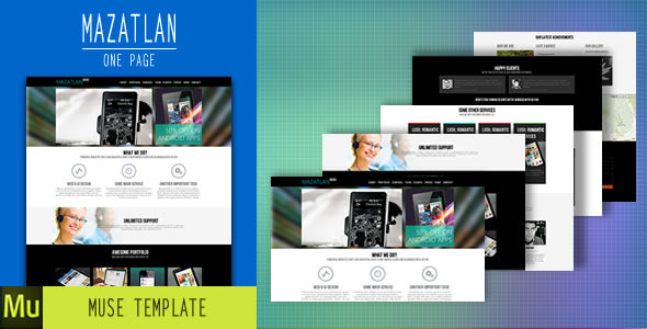 Mazatlan - One Page Muse Template