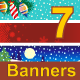 Seven Christmas Banners - GraphicRiver Item for Sale