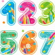 Decorated Numbers and Arithmetic Signs - GraphicRiver Item for Sale