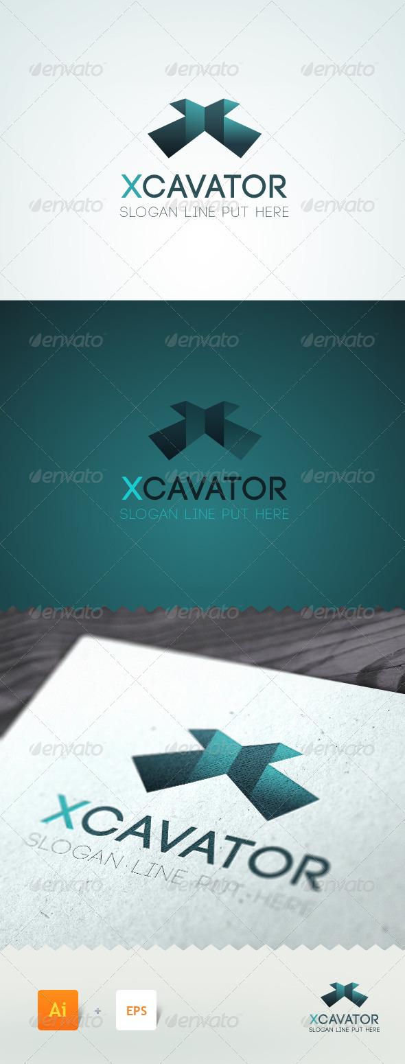 Xcavator - Letter 'X' Logo Template