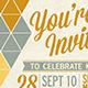 Retro Invitation Postcard - GraphicRiver Item for Sale