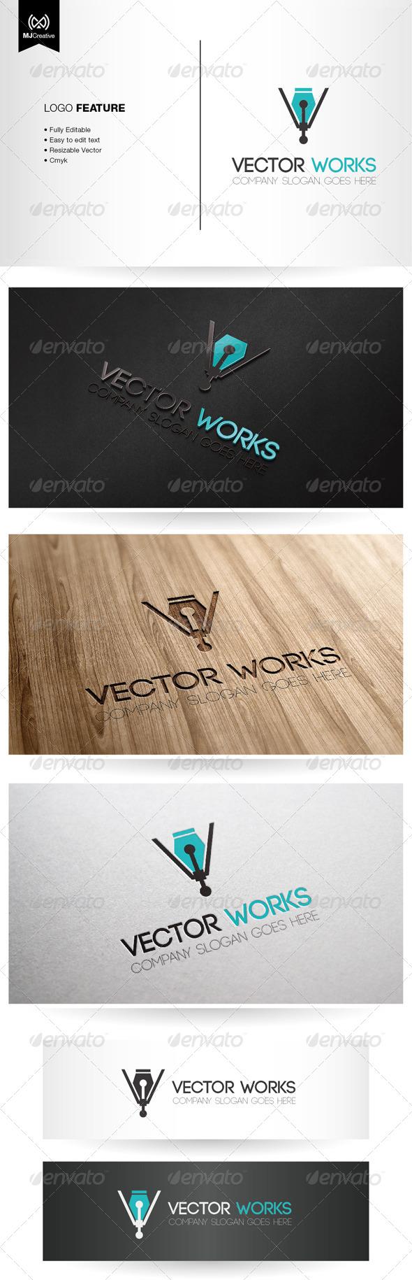 Vector and Digital Pen Logo