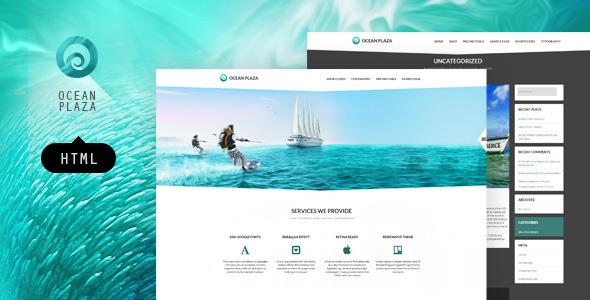 OceanPlaza HTML layout