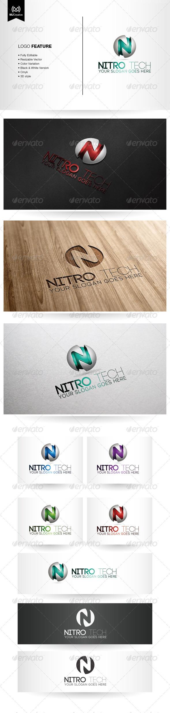 N Tech 3D Logo