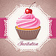 Vintage Card with Cupcake - GraphicRiver Item for Sale