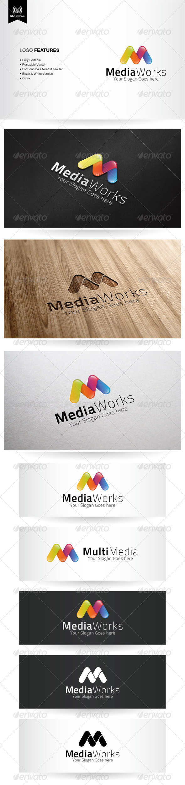 Colorful M Logo