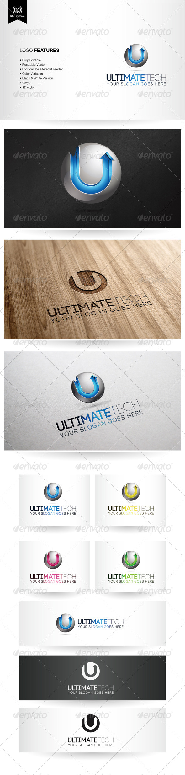 U Tech 3D Logo
