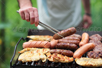 Download Grilling at summer weekend
