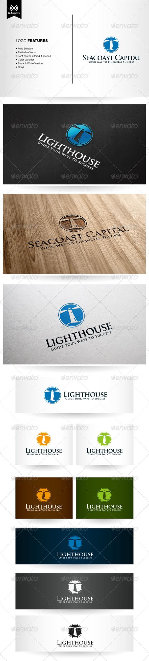 Seacoast and Lighthouse Logo