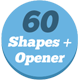 60 Shapes, Text Reveals and Transition + Opener - VideoHive Item for Sale