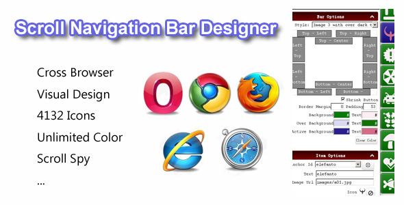 Scroll Navigation Bar Designer