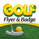 Mini Golf and Kids Golf Flyer and Badge Template - GraphicRiver Item for Sale