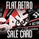Flat Retro Sale Card - GraphicRiver Item for Sale