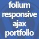 Folium - Responsive Ajax Portfolio - CodeCanyon Item for Sale