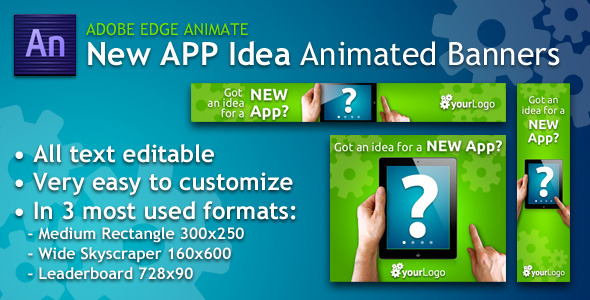 New App Idea Animated Banner