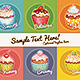 Vintage Cupcakes Postcard Set - GraphicRiver Item for Sale