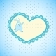 Baby Frame on Blue Background - GraphicRiver Item for Sale