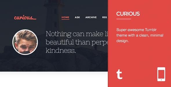 Curious - Responsive Tumblr Theme