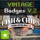 8 Vintage Labels / Retro Insignias V.2 - GraphicRiver Item for Sale