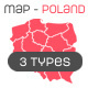 Map of Poland + map pins - GraphicRiver Item for Sale