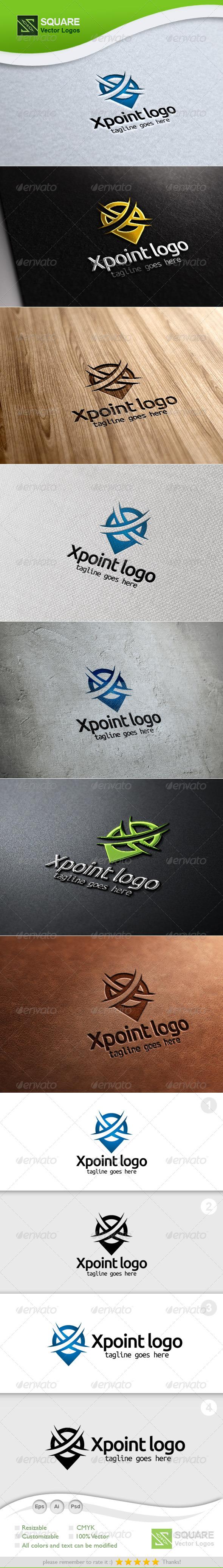X, Locator Vector Logo Template