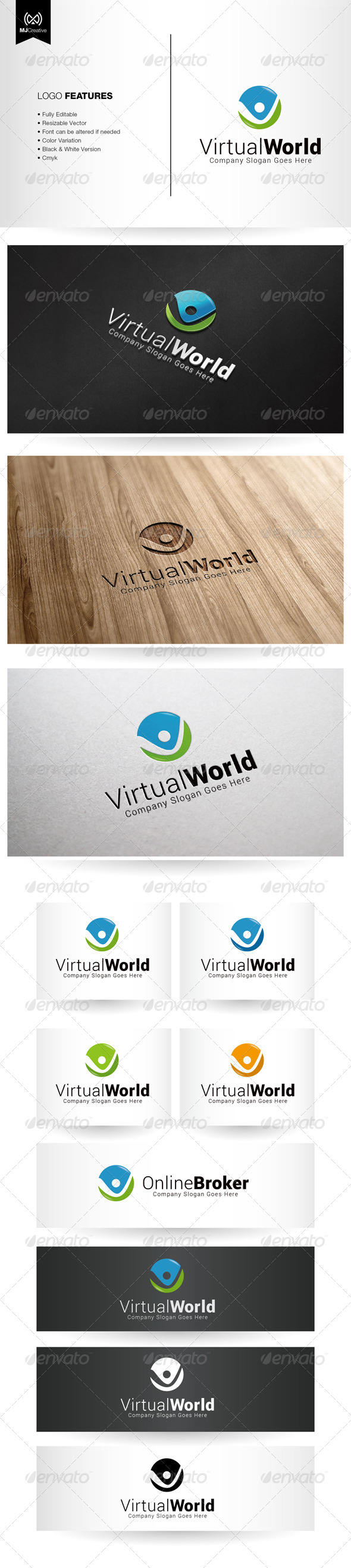 Tick Virtual And Letter V logo