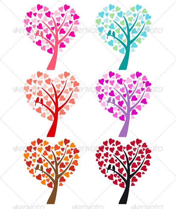 Heart Tree with Birds