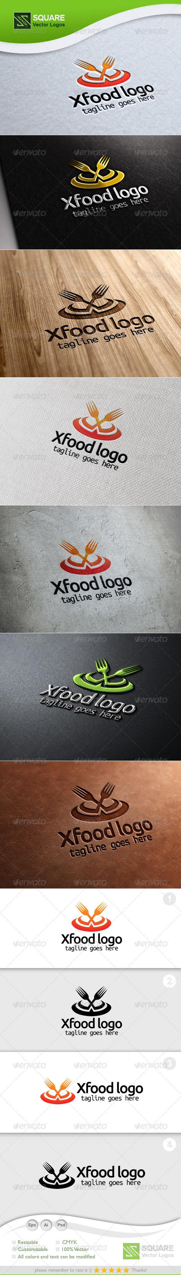 X, Fork Vector Logo Template