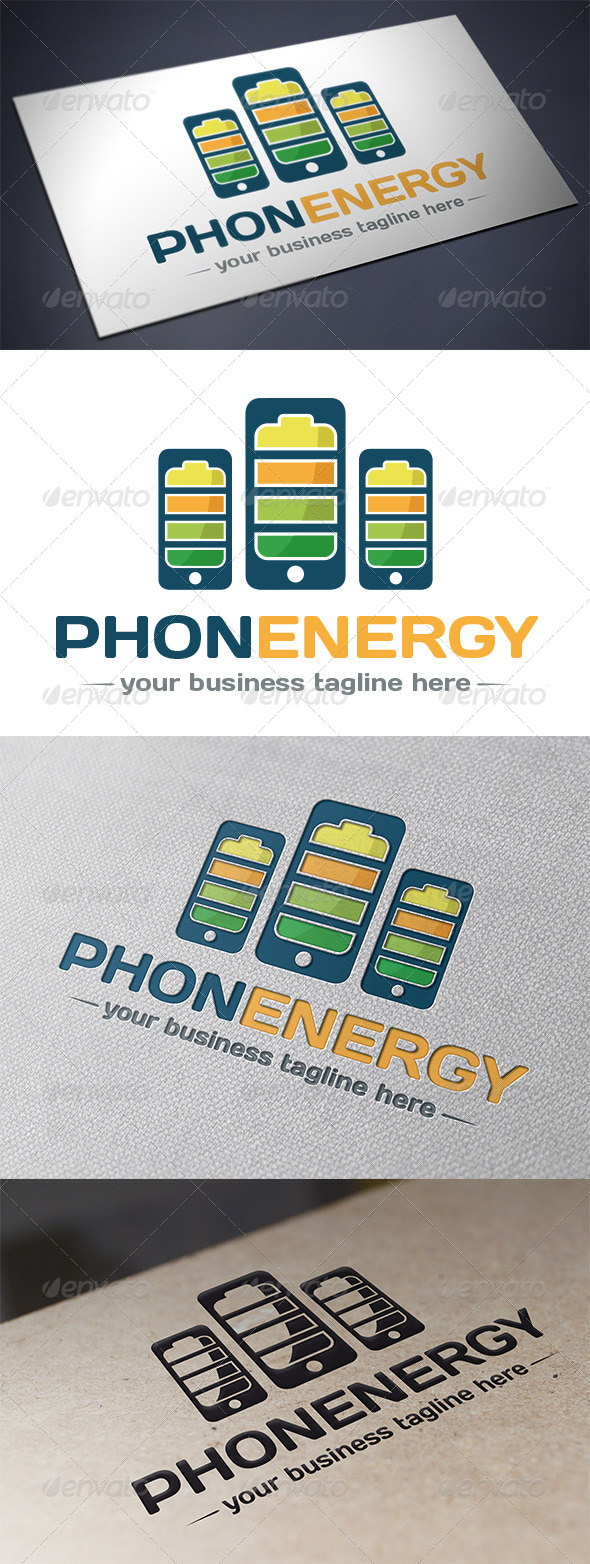 Phone Energy Logo Template