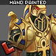Low poly hand painted warrior - 3DOcean Item for Sale