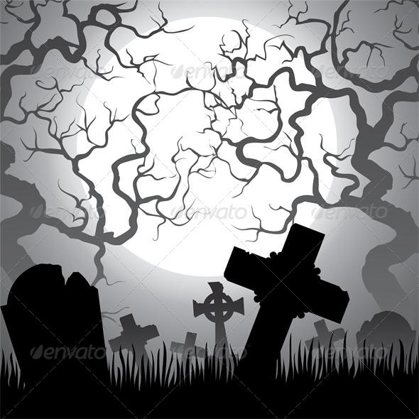 Spooky Halloween Cemetery
