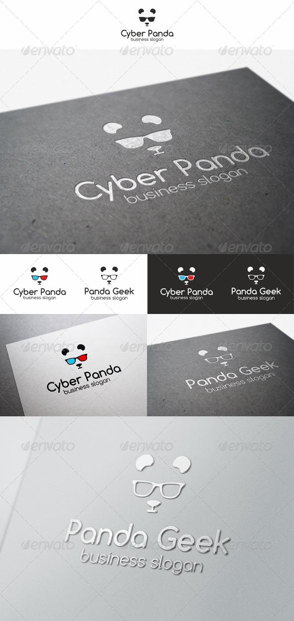 Panda Geek Logo Animal