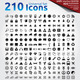 210 Universal Icons Set - GraphicRiver Item for Sale