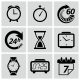 Clock and Time Icons. Vector Illustration - GraphicRiver Item for Sale