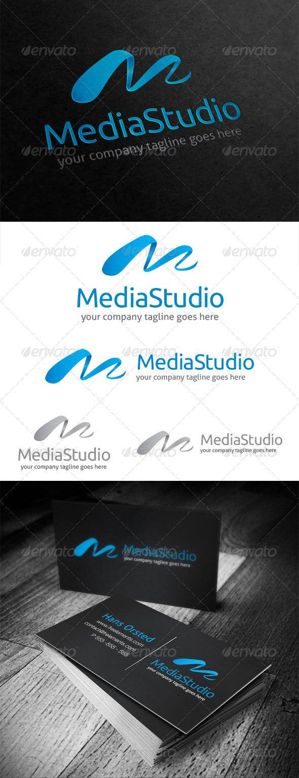 Media Studio Letter M Logo