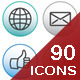 90 Web Icons - GraphicRiver Item for Sale