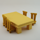 Table and Chairs Lowpoly - 3DOcean Item for Sale