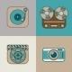Retro Flat Arts Icon - GraphicRiver Item for Sale