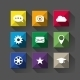 Long Shadow Flat Icons - GraphicRiver Item for Sale