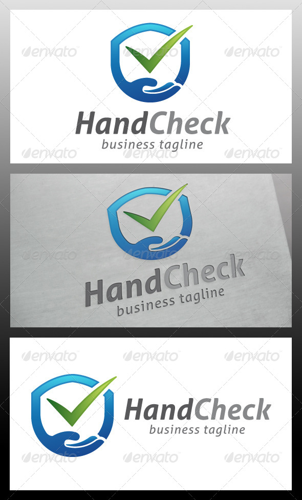 Hand Shield Logo Template