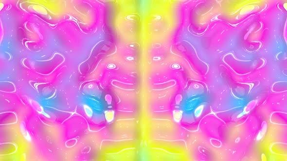 Moving Colored Liquid
