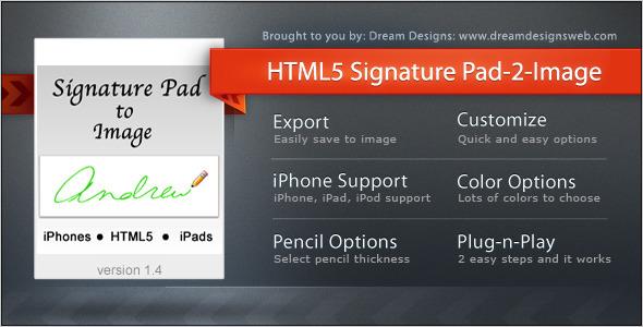 Podpis HTML5 do obrazu