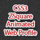 CSS3 - ZSquare Animated Web Profile - CodeCanyon Item for Sale