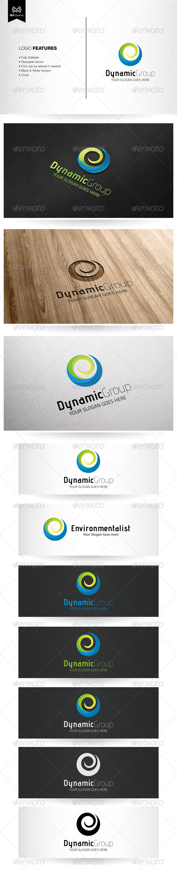 Dynamic Spiral and Abstract E Logo