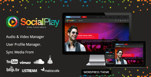 Download SocialPlay – Media Sharing WordPress Theme Nulled