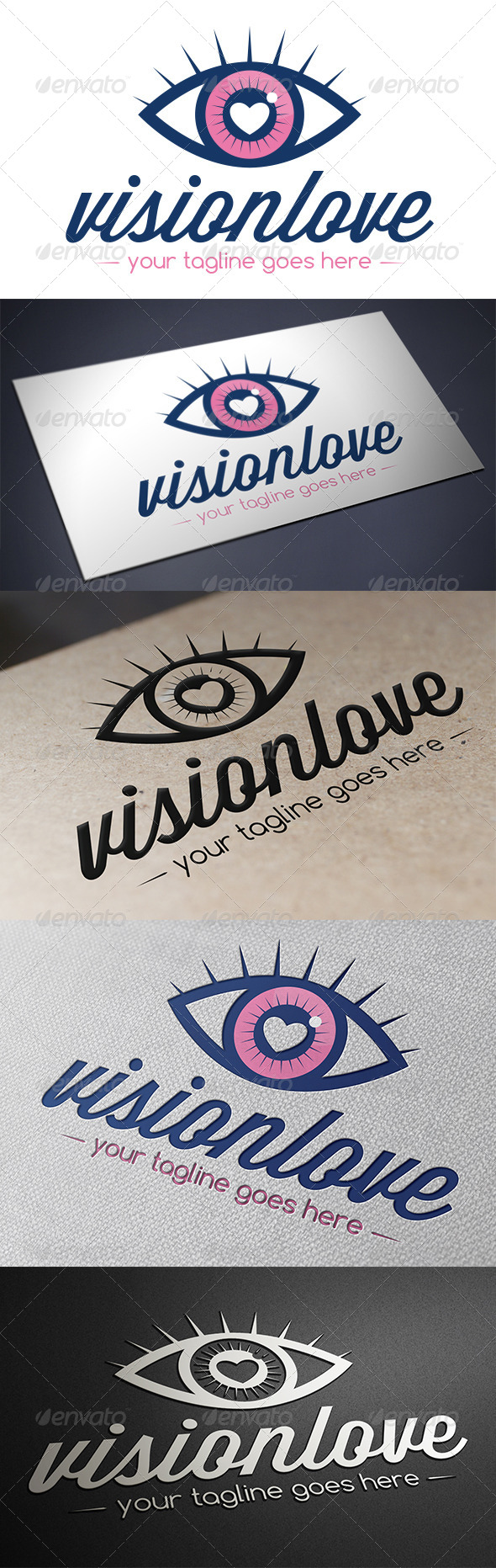 Vision Love Logo Template