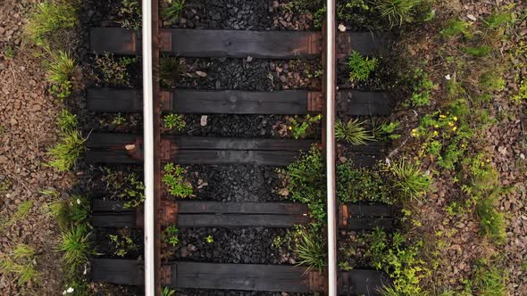Railroad Track Close Up