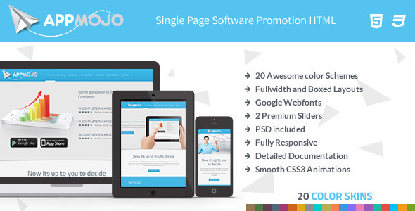 App Mojo - Single Page Software Promotion HTML