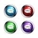 Shiny Speech Bubble Buttons - GraphicRiver Item for Sale